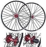 N&I Mountain Bike Rims Rear Wheel 26 inch Bicycle wheelset Double Wall Quick Release Rim V-Brake disc Brake 32 Holes 7-8-9-10 Speed