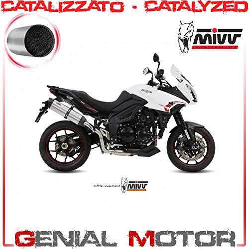 Mivv Suono T.014.K7 pan, gekatalyseerd, roestvrij staal, Coppe Carbon, Tiger 1050 Sport 2013