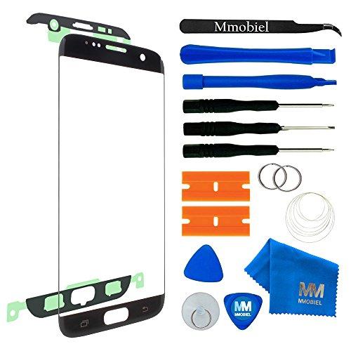 MMOBIEL Front Glas Reparatur Set kompatibel mit Samsung Galaxy S7 Edge G935 Series (Schwarz) Display mit Werkzeug-Set