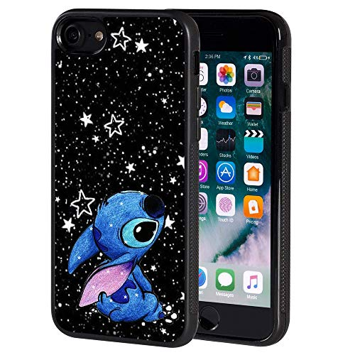 for iPhone 8 Case,Casual Stitch Pattern Soft TPU for iPhone 8 / iPhone 7 4.7 Inch - Black