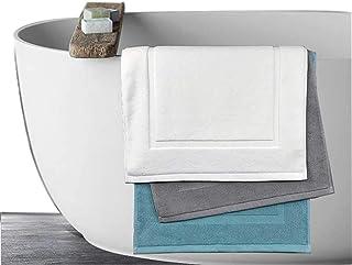 fuusui8 ホテル仕様 バスマット お風呂マット タオル地 50×80㎝ 吸水 おしゃれ 速乾 丸洗いできるタオル (グレー)