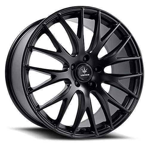 Verde Wheels Saga Satin Black Wheel Finish (20 x 8.5 inches /5 x 4 inches, 38 mm Offset)