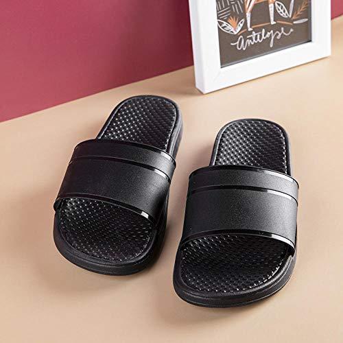 TDYSDYN Zapatos de Piscina Zapatos de Agua para baño,Zapatillas de Interior de Suela Blanda, Sandalias Planas de baño de Masaje-Negro 1_42-43
