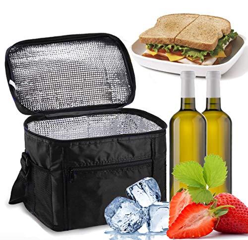 Sinwind Kühltasche Faltbar, Picknicktasche Kühltasche Thermotasche Klein Lsoliertasche Lunch Kühltasche Eistasche Lunch Tasche Kühlbox 10L für Picknick (schwarz)