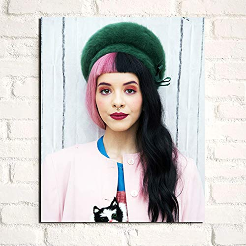 NIMCG Tragen Sie einen Hut Melanie Martinez Kunst Leinwand Malerei Druck Wohnzimmer Wohnkultur Moderne Wandkunst Ölgemälde Poster Bilder (ohne Rahmen) 60x80CM