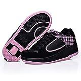 Zapatos con Ruedas Zapatillas con Dos Ruedas para niños y niña Led Luces Zapatillas con Ruedas Se Puede Bambas con Ruedas Carga Calzado de Skateboarding,1,36