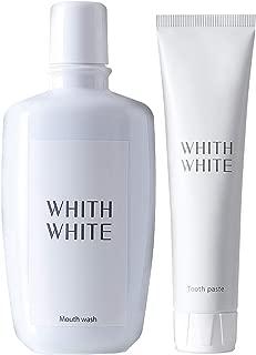 ホワイトニング 歯磨き粉 マウスウォッシュ セット 【 医薬部外品 】 フィス ホワイト 「 歯 の 黄ばみ が気になるあなたに 」「 歯周病 口臭予防 フッ素 配合 」「 子供 も使える 低刺激 日本製 」 120g & 300ml