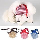 MagiDeal Hundehut Sunbonnet Baseball Cap Hut für Outdoor Sport Haustier Hund Katze Kostüme – Kaffee S - 8
