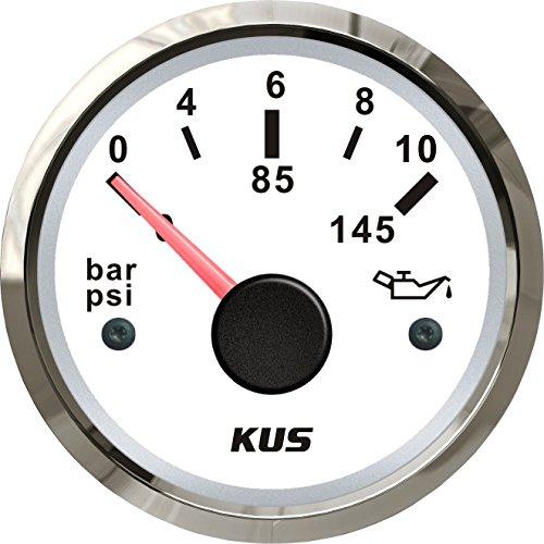 KUS warranted aceite combustible Medidor de presión 0-10bar 0-145PSI con retroiluminación 12V/24V 52mm (2 ')