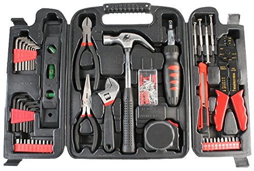 Duratool 14956TL Household Tool Kit in Blow Moulded Carry...
