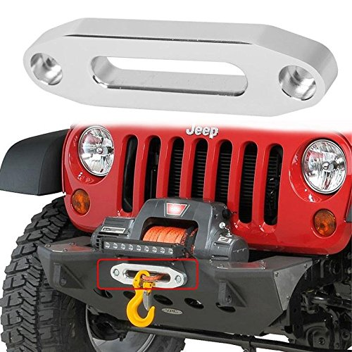 Red 124mm Ucreative Aluminum Hawse Fairlead for ATV 2000-3500 LBs Winch 4 7//8 Mount Glossy