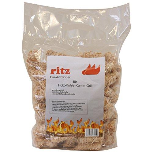 1 kg Ritz Bio-Anzünder aus Holzwolle Wachs Anzünder Kaminanzünder Ofenanzünder