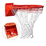 Pro Slam Professional 180º Heavy Duty Breakaway Basketball Rim,18 inch Single Spring Flex Rim Goal Replacement Fits...