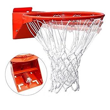 Pro Slam Professional 180º Heavy Duty Breakaway Basketball Rim,18 inch Single Spring Flex Rim Goal Replacement Fits 5 x5  5 x4  4 x3 ,5 x3  Hole Pattern Backboard