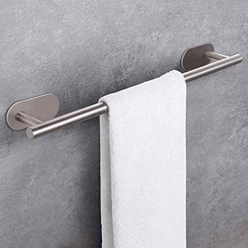 Barra para toallas de 50 cm sin taladrar, barra de acero inoxidable sin óxido, toallero adhesivo con 3 m