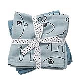 Done by deer 30682 - Pack 2 muselinas con diseño elefante, color azul