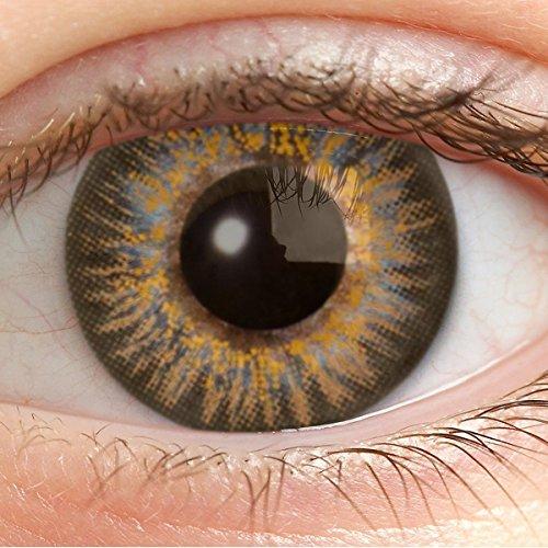 Farbige Kontaktlinsen Braun Ohne Stärke Weiche Braune Jahreslinsen Farblinsen Linsen Natürlich 0 Dioptrien 14.5 mm - Sweet Brown ec-a73