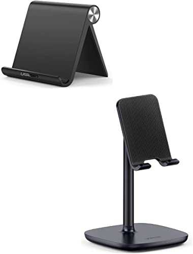 UGREEN Cell Phone Stand Bundle Phone Holder for Desk Adjustable Compatible with iPhone 12 Pro Max 11 SE XS XR 8 Plus 6 7 Samsung Galaxy Note20 S20 S10 S9 S8 Android Smartphone