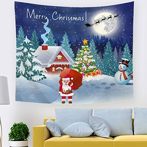 PICTURESQUE Tapiz Decorativo de Pared para Navidad Decoración del Hogar 150x130cm
