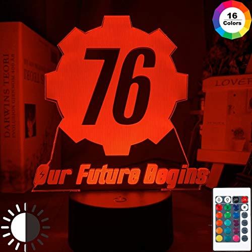 Game Fallout 6 Logo Fans Game Night Light Lampada da tavolo a LED 3D per bambini regalo di compleanno decorazione della camera da comodino