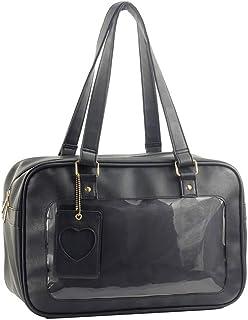 SteamedBun Ita Bag Clear Window Handbag Japanese PU Leather Purse Anime Satchels for Cosplay