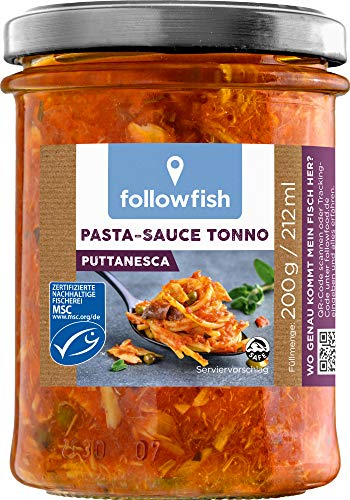 followfish MSC Pasta-Sauce Tonno Puttanesca, 200 g
