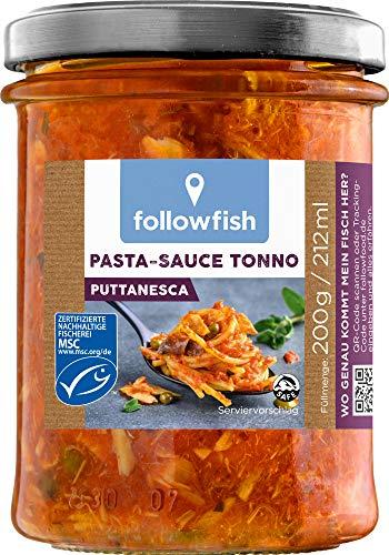 followfish MSC Pasta-Sauce Tonno Puttanesca, 200 g