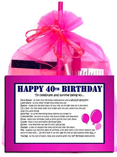 40th Birthday Survival Kit Pink