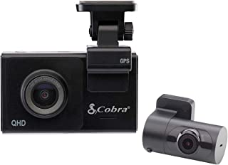 Cobra Smart Dash Camera for Cars (SC 200D) - Quad HD (Front) & Full HD (Rear) Video Recording, Rear Cam Included, Voice Co...