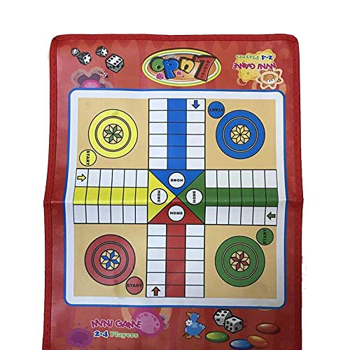 YUHT Board Game Portable Flying Chess Board Educational Kids Toys Snake Ladder Interesting Board Game Toy Set For Kids And Adults (Color : Red, Size : One Size) chess