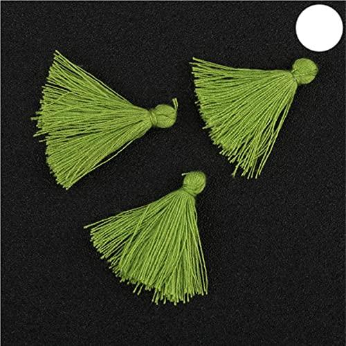100 UNIDS 3 CM Mini Hilo de Algodón Borla de Tela DIY Colgante Joyería Pulsera Fabricación de Llaves Fringe Trim Craft Borlas Accesorios de Costura-Color 18