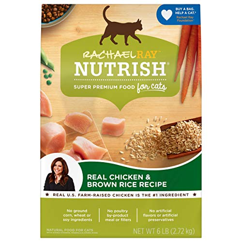 Rachael Ray Nutrish Premium Natural Dry Cat Food, Real Chicken & Brown Rice Recipe, 6 Pounds...