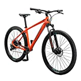 Mongoose Tyax Comp Adult Mountain Bike, 29-Inch Wheels, Tectonic T2 Aluminum Frame, Rigid Hardtail, Hydraulic Disc Brakes, Mens Large Frame, Orange