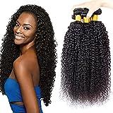 pelo humano rizado natural pelo humano brasileño cabello virgen brasileño extensiones de cabello color negro natural 20 22 24 pulgadas (100 +/-5g)/ pc,total 300g