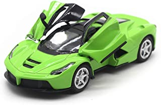 LW Modern Cars Style 1:32 Sports Cars Scale Diecast Car Model Collection Light&Sound (Green)