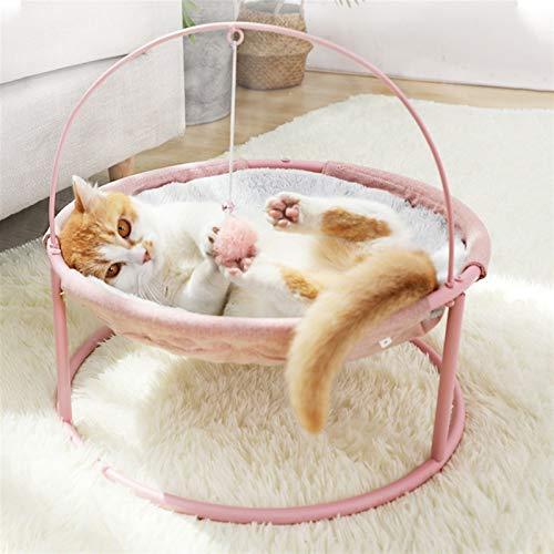 Jgzwlkj Haustierbett Cat's Nest Four Seasons Universal Cradle Stuhl Katze Prinzessin Hundest Nest Hund Bett Netto Hund Katze Bett Cat Couch Pet Supplies (Color : Winter pink)
