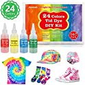 Vanstek 24 Colors Tie Dye Shirt Fabric Dye for Women