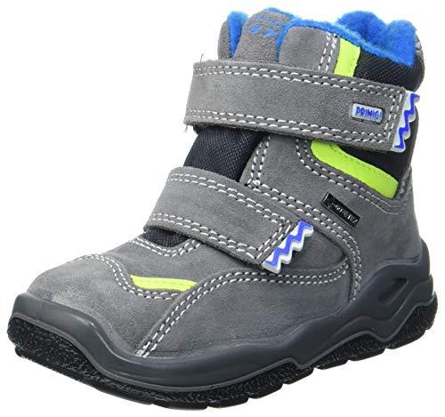 PRIMIGI Baby Jungen PGYGT 63625 First Walker Shoe, Grigio/GRIG.SCU, 23 EU