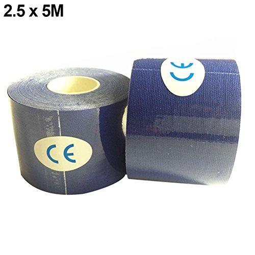 lzndeal 2.5cm * 5m banda terapéutica de Sports músculos Care venda elástica terapéutica deporte kinésica banda rollo Physio Muscle Strain el cuidado lésions vendaje herramienta de apoyo