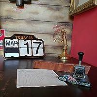 OldアメリカンStyle日めくり式 万年カレンダーIRON CALENDAR壁掛け&据置 2WAY#アンティーク#ヴィンテージ#アイアン#プレート