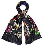Intermoda Elegante bufanda de rayas para mujer, ligera, para primavera, diseño de rayas, color verde petróleo