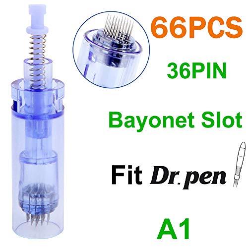 MZBZYU Micro Aiguille Nano de la Cartouche pour Derma Pen A1,Micro Nano Aiguilles Cartouche Microneedling 36Pin,Accessoires de Remplacement Jetables