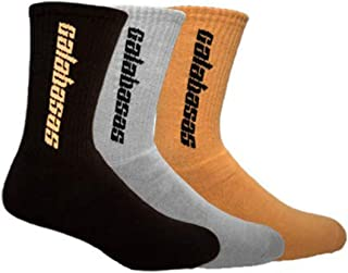 Yeezy Calabasas Kanye West Limited Edition Athletic Crew Socks 3-Pack