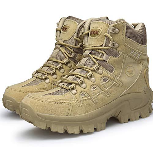NHX Herren-Militärstiefel wasserdichte Kampf-Stiefel Kletterschuhe Outdoor-Side-Zip Frühling und Herbst Forces Boots Tactical Schuhe,Sand Color-45