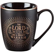 Mug - The Lord Is With Me, Matte Black Gilded