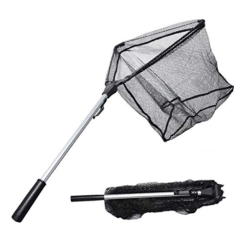 KastKing MadBite Improved Fishing Landing Net, 20 inch Hoop Size(Improved Telescopic Handle)