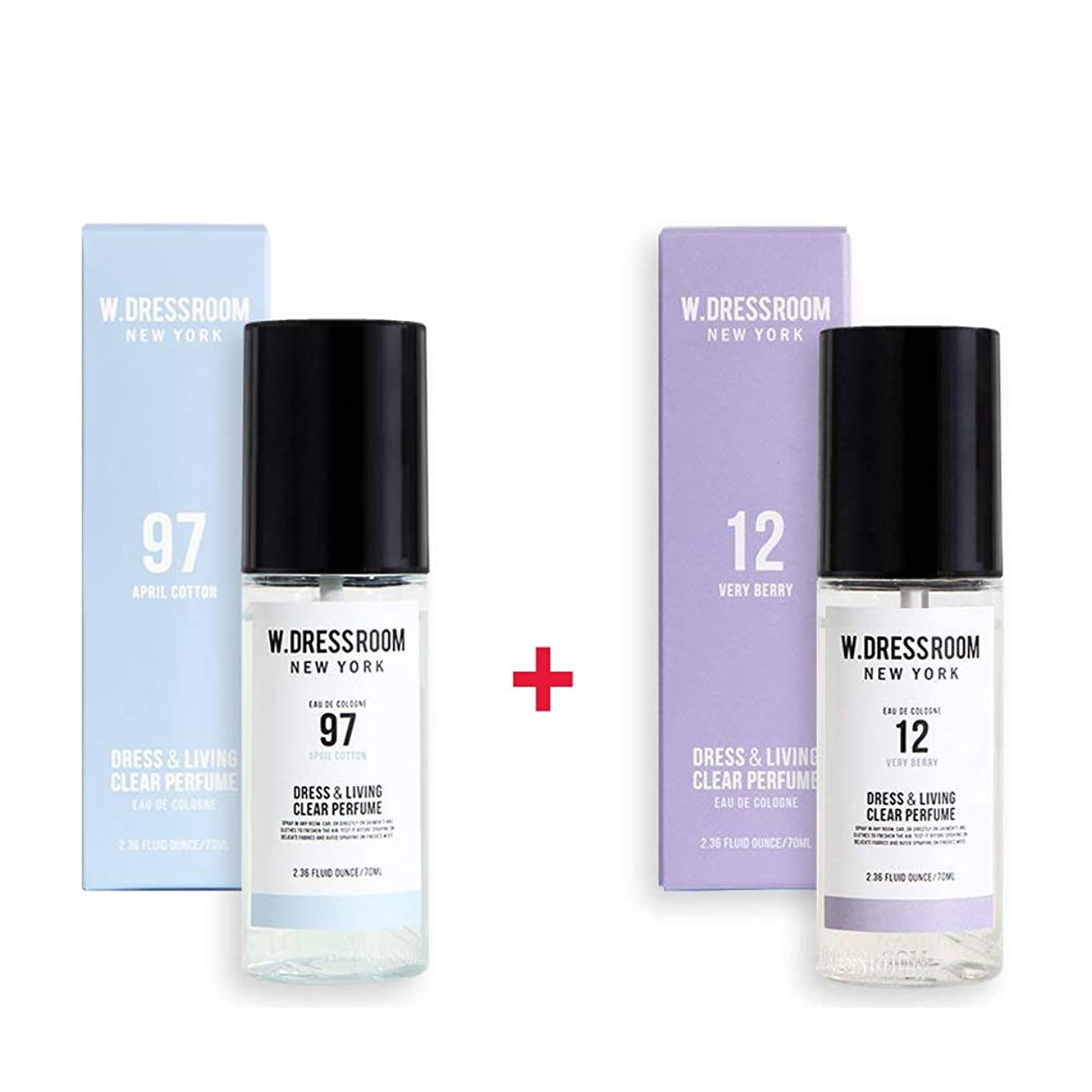 カフェテリア賞賛インペリアルW.DRESSROOM Dress & Living Clear Perfume 70ml (No 97 April Cotton)+(No 12 Very Berry)