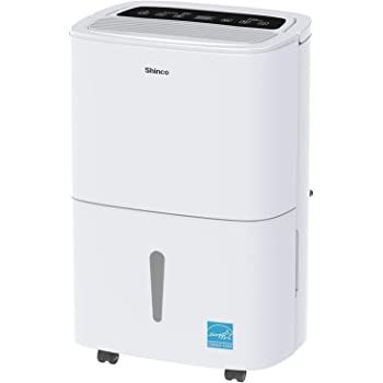 SHINCO 1,500 Sq. Ft. Dehumidifier, Energy Star Rated, for Medium Rooms and Basements, Continuous Gravity Drain, with Wheels, Quietly Remove Moisture Medium - (30 Pint)