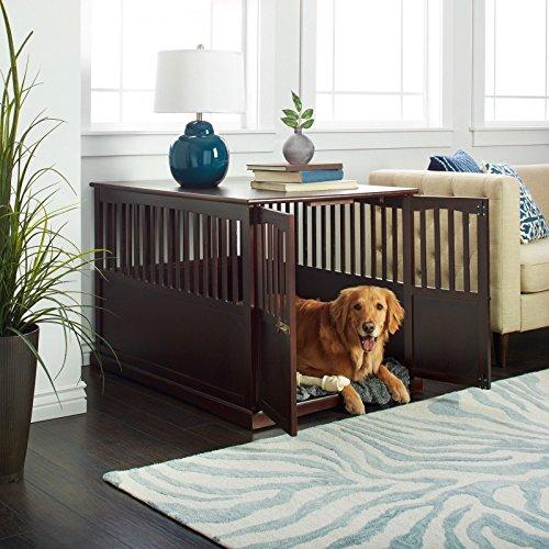 Hot Sale! Wooden Furniture XL Pet Crate Espresso...