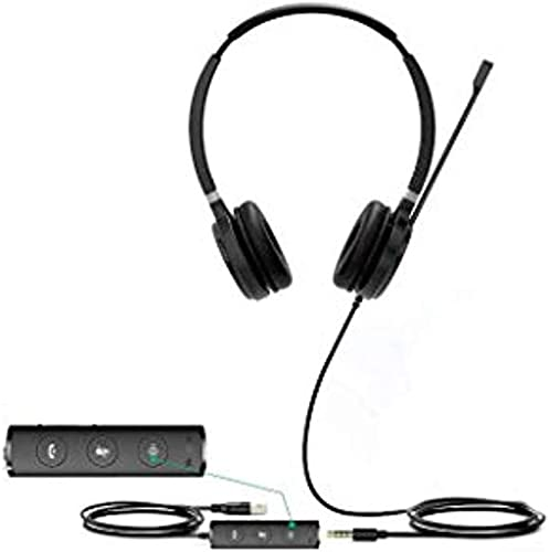 discount Yealink UH36-DUAL UH36 Dual discount Wired USB Headset wholesale - USB 2.0, 3.5mm Jack, Certified for use with Microsoft Teams online